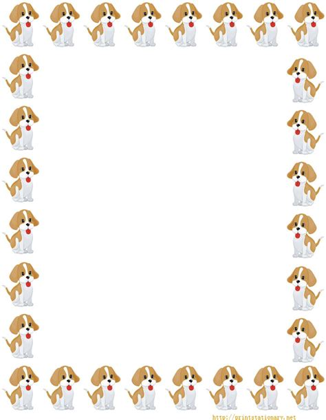 printable dog stationery free printable stationery free online writing paper