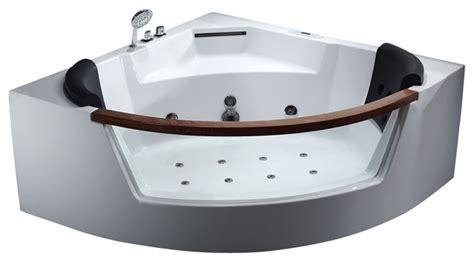 clear bathtub eago am197 5 rounded clear modern corner whirlpool bath tub with fixtures bathtubs