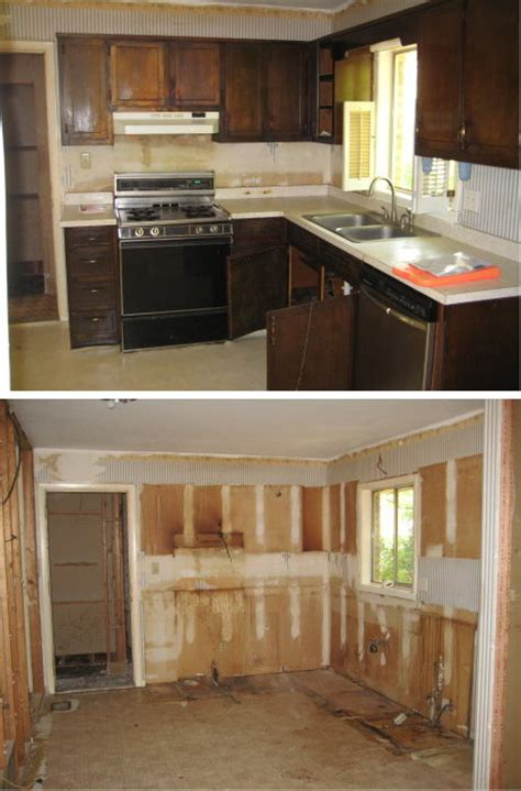Demo Kitchen Cabinets by House Flipping Before After Pictures House Pictures
