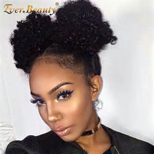 afro hair buns for sale aliexpress com buy deep wave 360 lace frontal closure pre plucked 360 lace band frontal