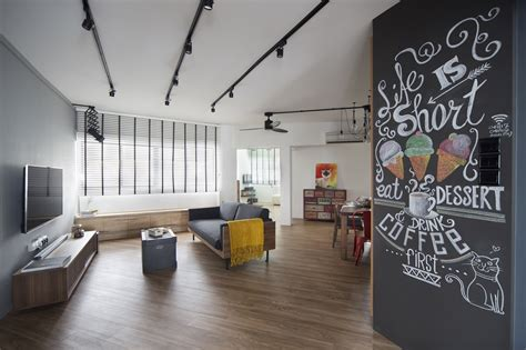 house tour 100 000 industrial chic look in this four house tour 60 000 minimalist industrial four room hdb