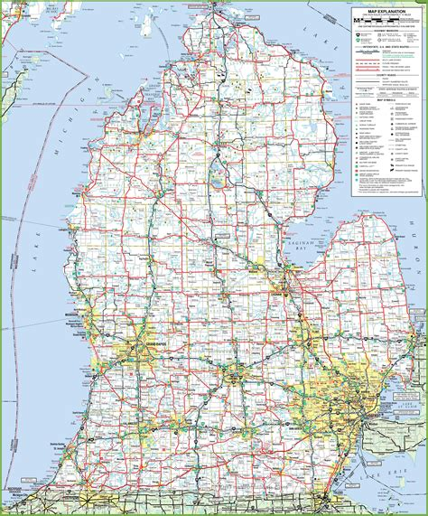 map of lower usa map michigan my