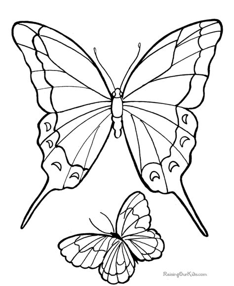 easy butterfly drawings for kids free coloring pages