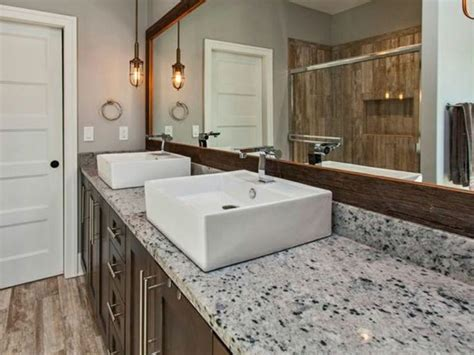 Modern Tile Countertops by Granite Countertop Ideas For Modern Bathrooms Granite
