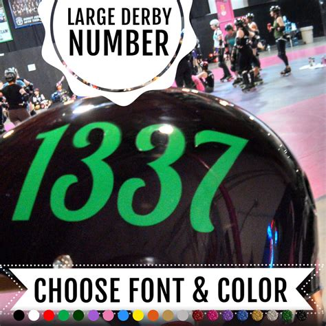 Roller Derby Sticker by Large Roller Derby Helmet Number Sticker Stitched Up