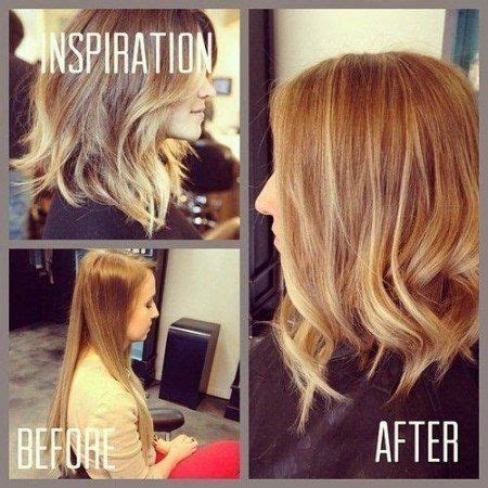 inverse layer cut makeover long angled bob with layers hair styling