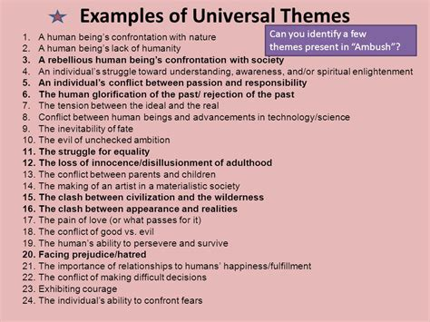 universal themes in literature exles lesson 4 2 pg 46 making inferences drawing