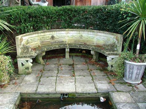 semi circular garden bench rustic european reclaimed limestone bench reclaimed