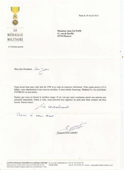 exemple de lettre de remerciement suite a un don mode blogs