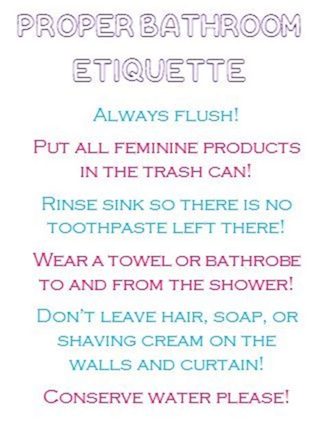 Bathroom Etiquette In College The World S Catalog Of Ideas