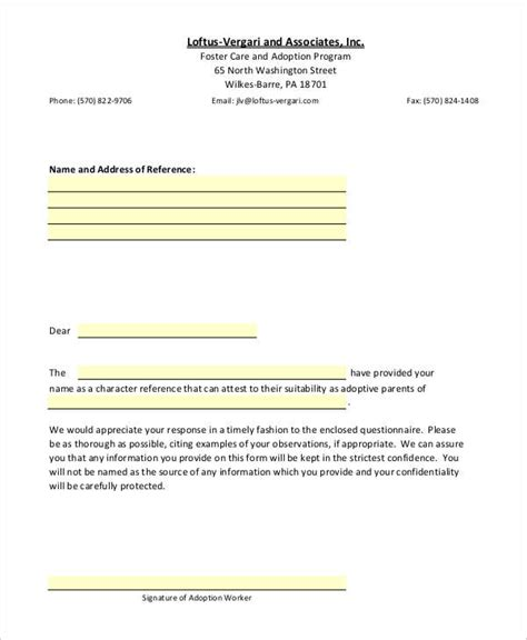letter of recommendation for adoption template sle recommendation letter 8 exles in word pdf