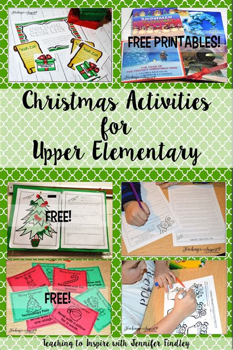 christmas activities for new students activities for elementary teaching to inspire with findley