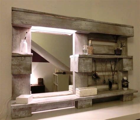 Regal Bauen Lassen by Wand Regal Paletten Spiegel Beleuchtung Do It Your Self