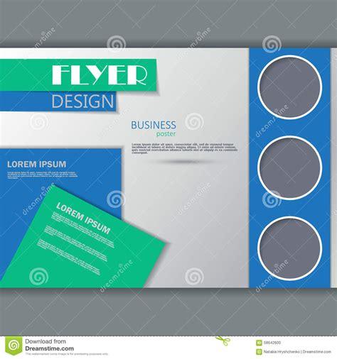 Poster Design Horizontal | vector horizontal flyer template stock vector image