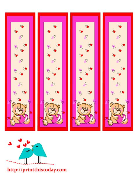 pictures of book marks teddy bookmarks to print