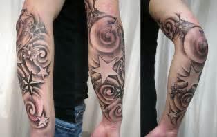star tattoos on forearm for men arm skull designs