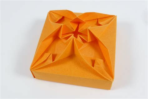 Origami Box With Attached Lid - origami box with lid attached charming origami boxes