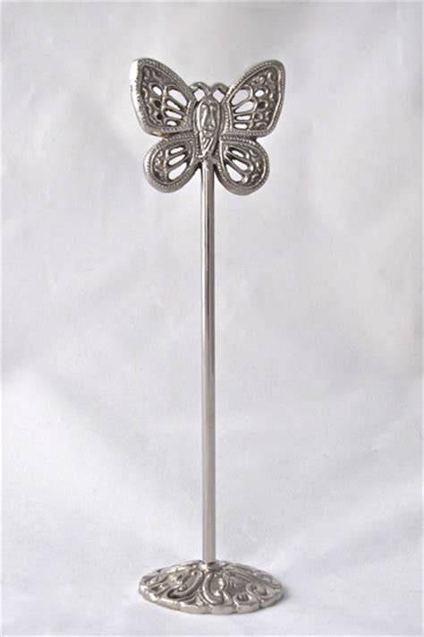 silver table number holders silver butterfly table number holder events2celebrate