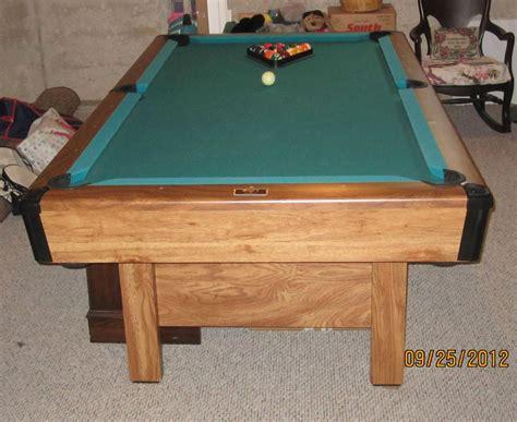 brunswick bristol pool table slate pool table 1994 bristol ii by brunswick made in usa l k