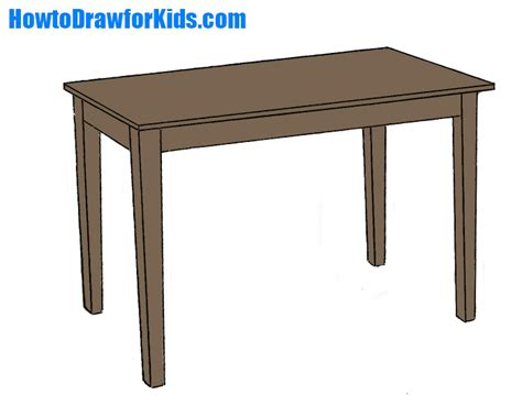 Draw Table by How To Draw A Table For Howtodrawforkids