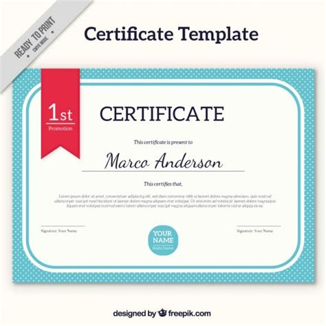 certificate template vector free certificate template with blue edges vector free