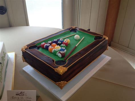 pool table grooms cake cake decorating