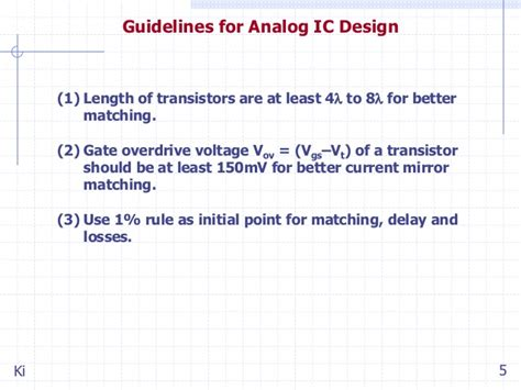 analog layout design guidelines ic design of power management circuits ii