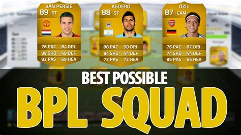 best team in fifa 14 fifa 14 best possible bpl team worth 1 million coins