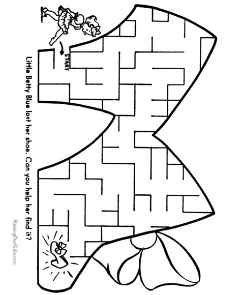 printable maze game for preschoolers free mazes printable activities for kids mazes