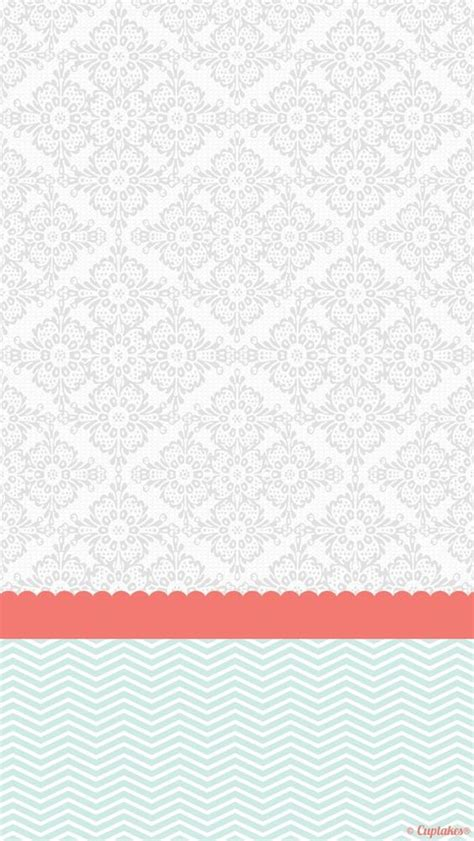 wallpaper grey and mint grey coral mint damask chevron iphone phone background