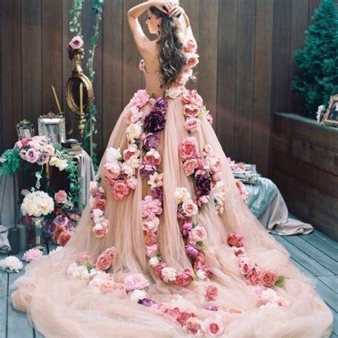 Flower Wedding Dress by Popular Floral Wedding Dresses Buy Cheap Floral Wedding