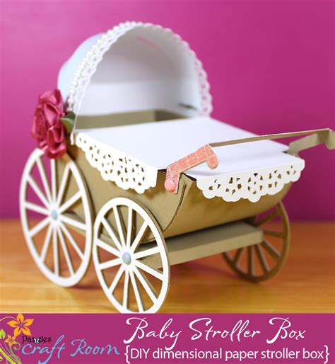 Baby Stroller Paper Box baby stroller box pazzles craft room