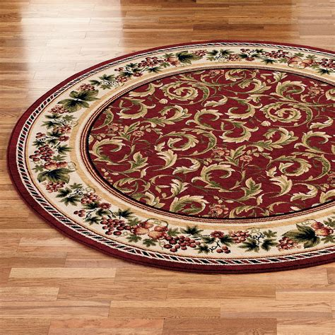 Circular Area Rugs Inspiration Grapes And Acanthus Area Rugs