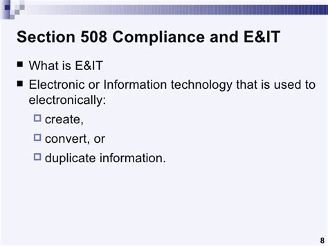 what is section 508 compliance understanding section 508