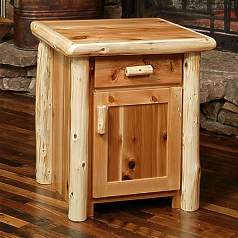 Log Nightstand Dressers Nightstands Rustic Furniture Mall By Timber Creek