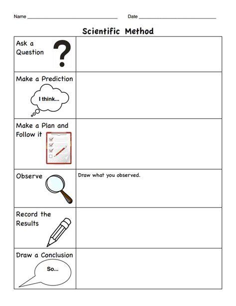 design an experiment worksheet k scientific method pdf for the classroom pinterest