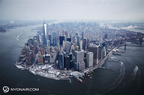 new york from the lower manhattan from above by nyonair nyc