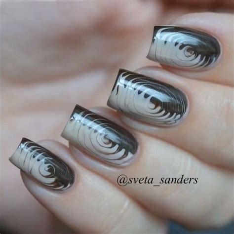 cute  creative swirl nail art hative