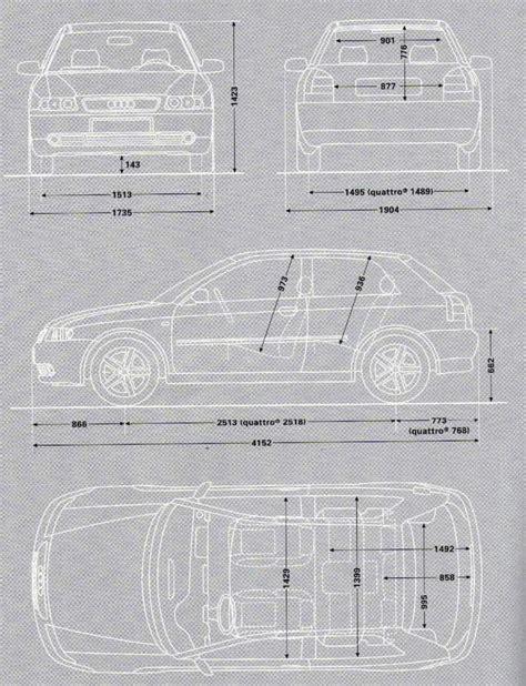 Audi A3 Sportback Abmessungen by Floh 180 S A3 Seite Abmessungen Audi A3 8l