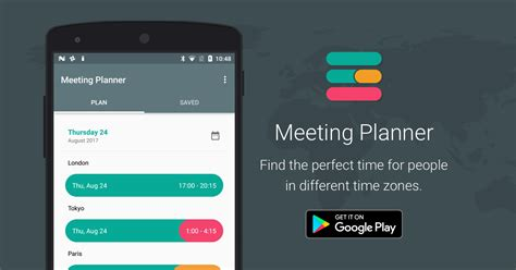 meeting planner app  timeanddatecom  android