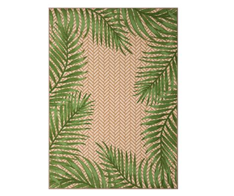 Big Lots Outdoor Rugs Wilson Fisher Green Palm Leaves Indoor Outdoor