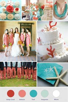 coral colored table ls 1000 images about coral and teal wedding ideas on