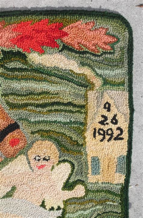 hooked rugs for sale signed and dated american hooked pictorial rug for sale at 1stdibs
