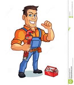 plumber mascot stock vector image 59249732