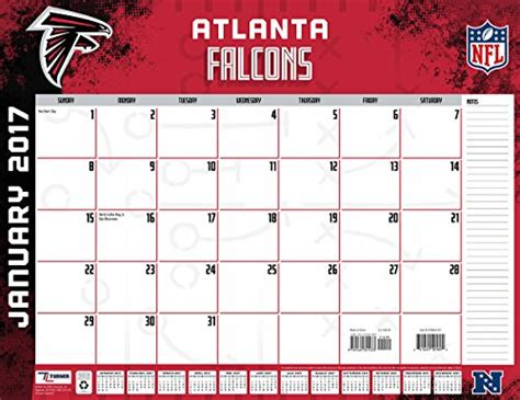 Atlanta Calendar Atlanta Falcons Desk Calendars Price Compare