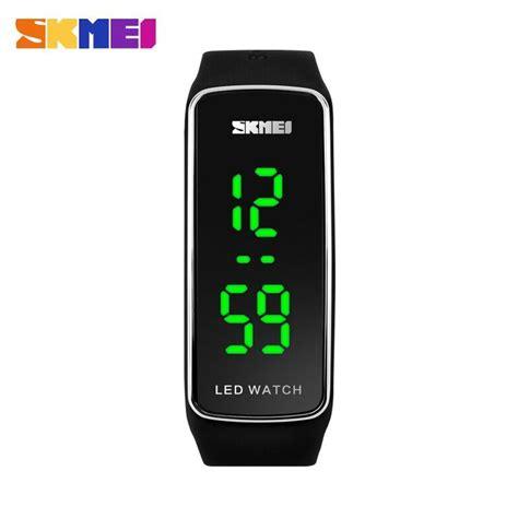 Jam Tangan Skmei Sport Rubber Led 1119 Black skmei jam tangan led 1119 black silver