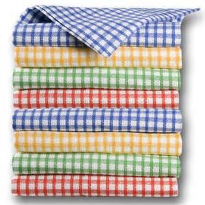torchons et serviettes cuisine torchon cuisine office tiss 233 carreaux 4 couleurs au choix