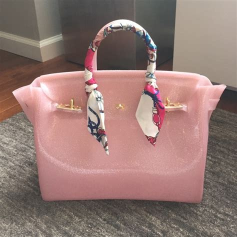 Accessories De Mademoiselle The Inspired By Hermes Birkin Bag by 83 Handbags Jelly Birkin Inspired Purse From