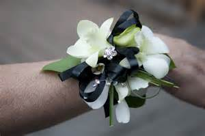 orchid wrist corsage fresh from stems p r o m