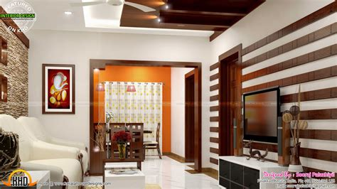 simple home interiors simple apartment interior in kerala kerala home design